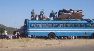 El aforo de los buses en Botsuana se optimiza a tope