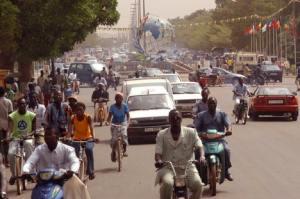 Una imagen cotidiana de la ciudad de Uagadugú