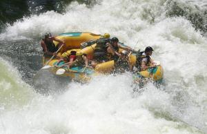 La fuerza de los rápidos del Zambeze es bestial