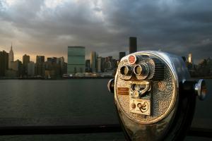 Una vista panorámica de Manhattan desde un mirador