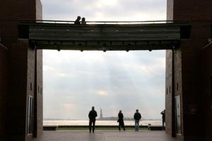 Una vista muy poco usual de la estatua de la libertad