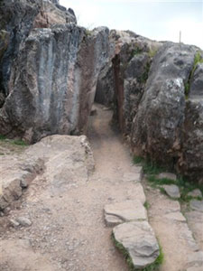 La entrada a la laberíntica Quenco