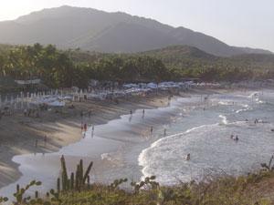 Una vista cenital de la playa de Parguito