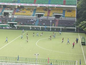 Un encuentro de hockey de la copa asiática