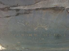 Primer plano del 'autógrafo' de Henry Stanley