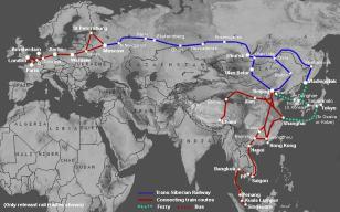 Mapa por donde discurre la línea del tren
