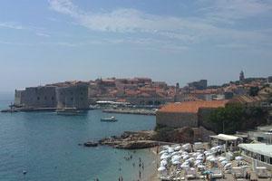 Una bonita perspectiva del centro urbano de Dubrovnik