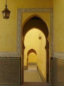 El mausoleo de Moulay Ismail, en Meknes