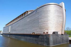 La reproducción del arca es de enormes proporciones