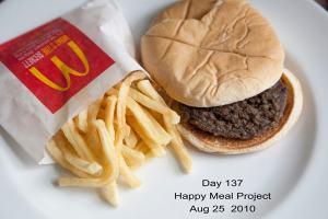 Una fotografía del menú en cuestión en el día número 137