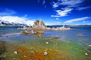 Las salubres y alcalinas aguas del lago Mono