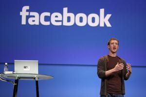 Mark Zuckerberg, el creador de Facebbok, en una charla