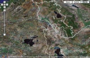 Mapa del monte Ararat, donde se ha hallado el arca