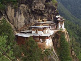 Un monasterio de Bután, alarde de un diseño único