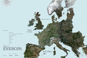 El ilustrativo mapa propuesto para el proyecto Eneropa