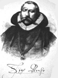 Un grabado del astrónomo Brahe