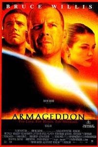 El cartel del la película de Armageddon