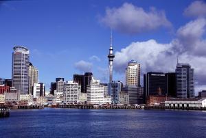 Una vista panorámica de la majestuosa Auckland