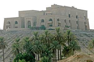 El palacio del difunto Saddam Hussein en Babilonia