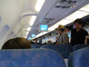 Una cabina de avión es idónea para transmisiones víricas