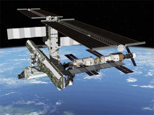 Una recreación de la Estación Espacial Internacional