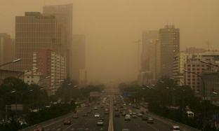 Horrible estampa de una ciudad china súper contaminada