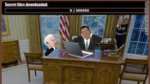 Un pantallazo del juego Wikileaks Stories