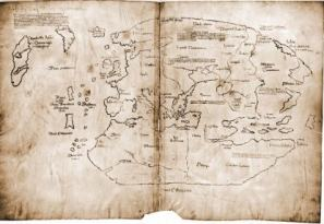 Un mapa de la Vinlandia descubierta por los vikingos