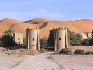 Un alojamiento junto a las dunas de Merzouga