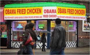 Un restaurante de pollo frito de corte muy político