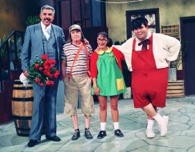 El profesor Jirafales, el Chavo, la Chilindrina y Ñoño