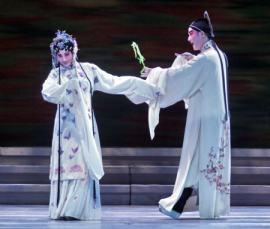 Una imagen de una representación teatral china