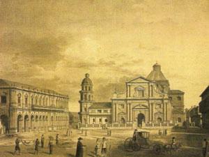 Un grabado del S. XVIII de Manila como colonia española