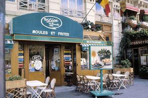 El restaurante Léon es un clásico de los 'moules-frites'