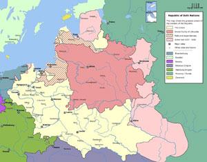 Un mapa de la antigua República de las Dos Naciones