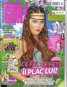 Una portada de una revista juvenil rumana