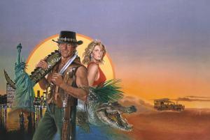 La carátula de la mítica película Cocodrilo Dundee