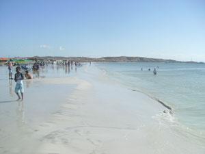 La orilla tiene un brillo especial en la playa de Coche