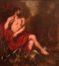 Un lienzo recrea al mitológico dios Vulcano