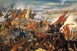 Un lienzo representa un episodio de La Guerra del Paraguay